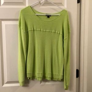 Women's size L a.n.a light sweater-NWOT-lime green